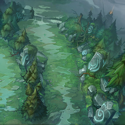 Trent kaniuga aquatic moon trent kaniuga summoners rift league of legends concept art 2