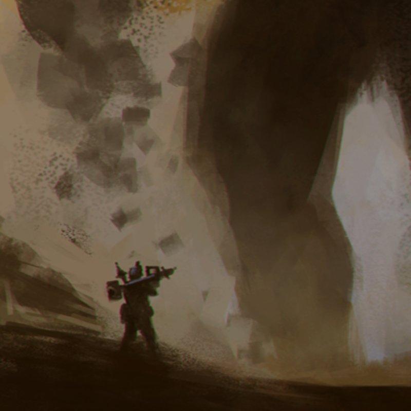 Daily Spitpaint: Titan Destruction