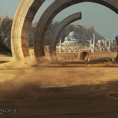Tomasz namielski silvernai ring gate to the desert city by noiprox d4f36xv