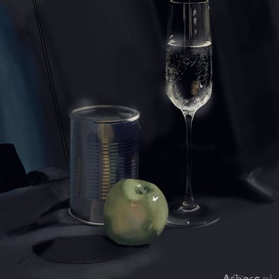 Agnes swart can water and apple