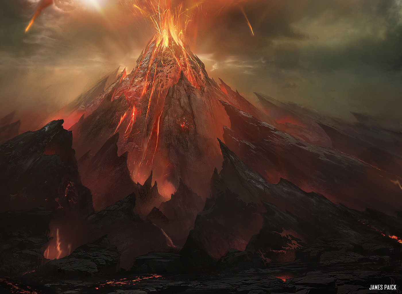 Image result for valakut the molten pinnacle full art
