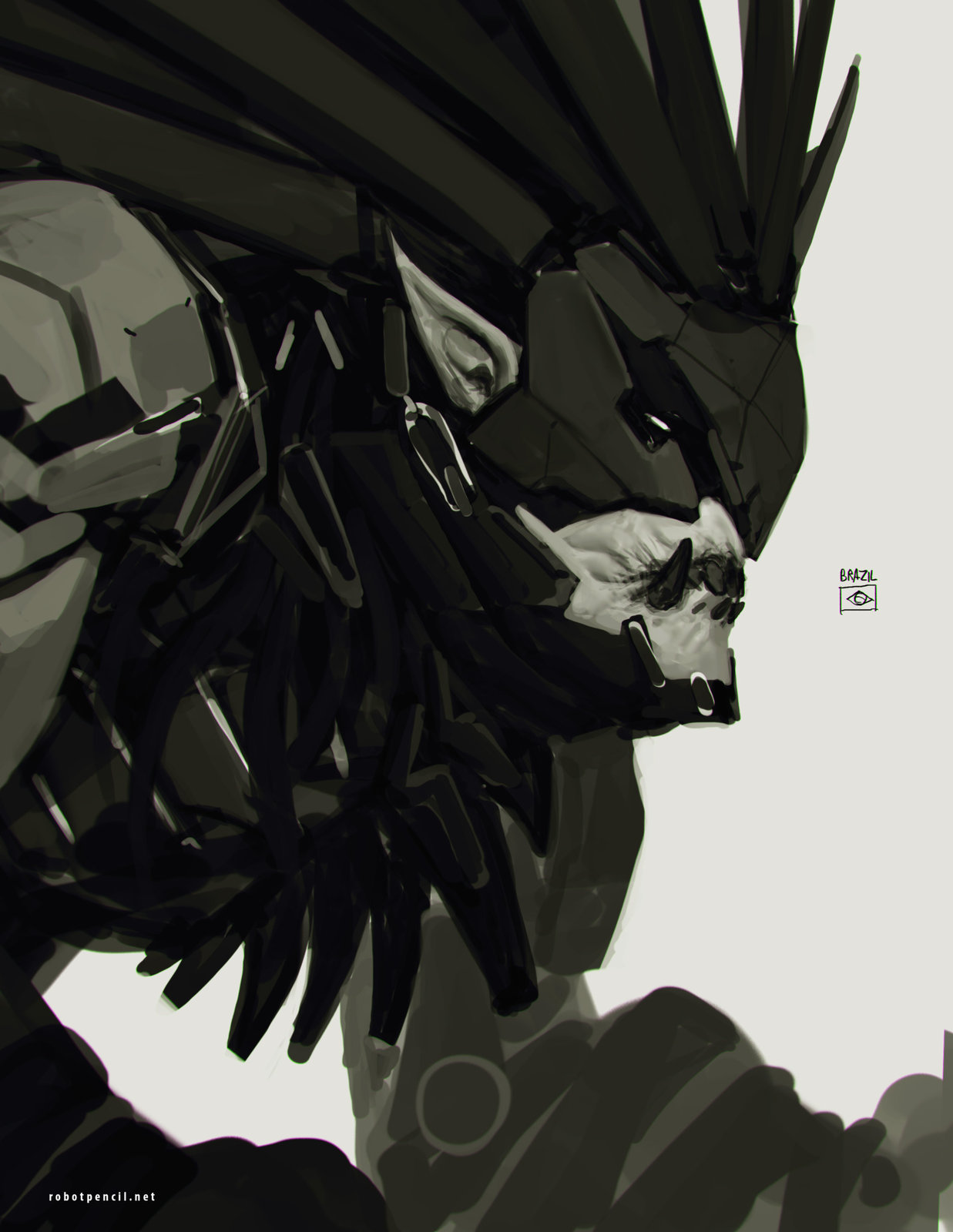 ArtStation - Deus Ex + Street Fighter - Blanka, Anthony Jones