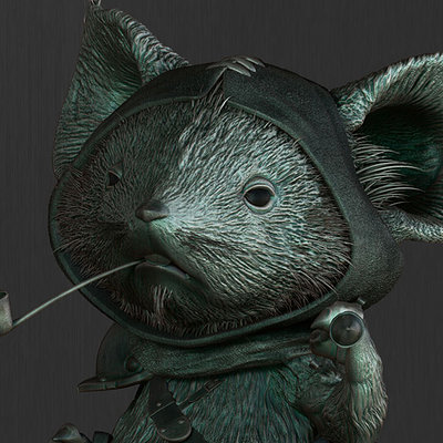 3D Fan art for the Mouse Guard of David Petersen