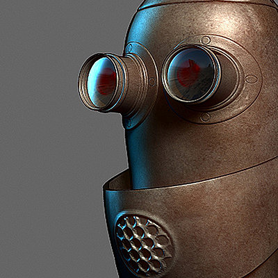 Quick scultp of a robot realized for the beta zbrush 4R2