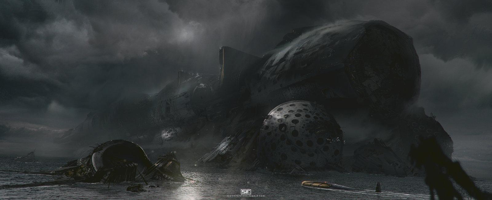 Derelict Starship