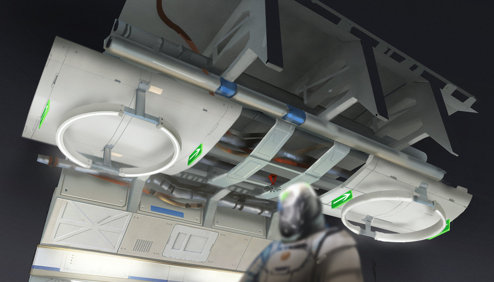 Mars Station - Corridor Ceiling and Lighting