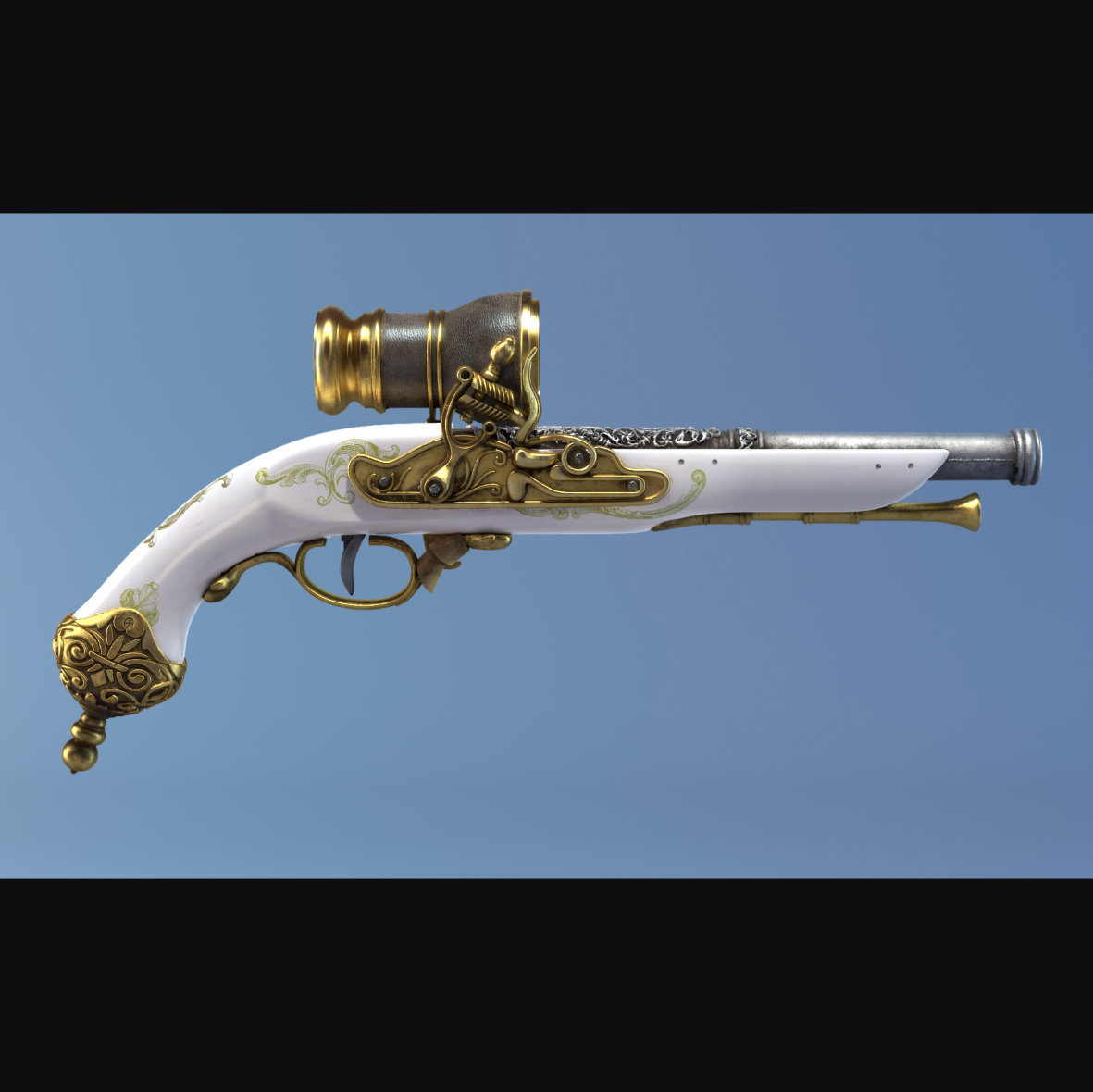 Steampunk Girl Gun