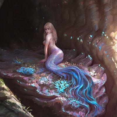 Hwanggyu kim turtle mermaid