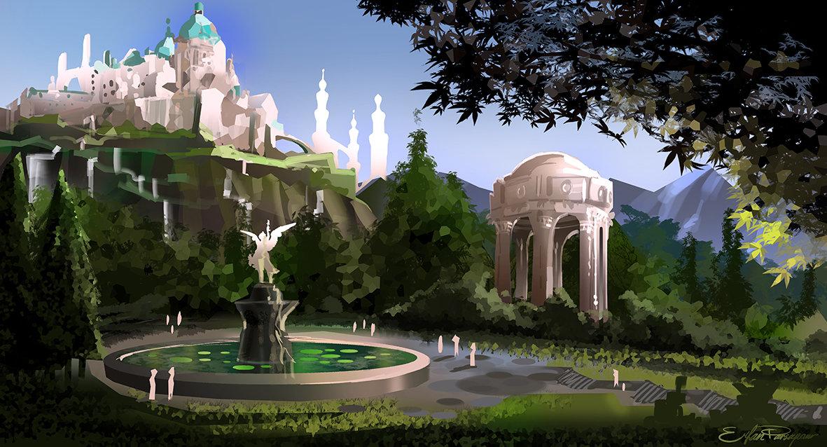 artstation the western royal garden erfan parsapour. Black Bedroom Furniture Sets. Home Design Ideas