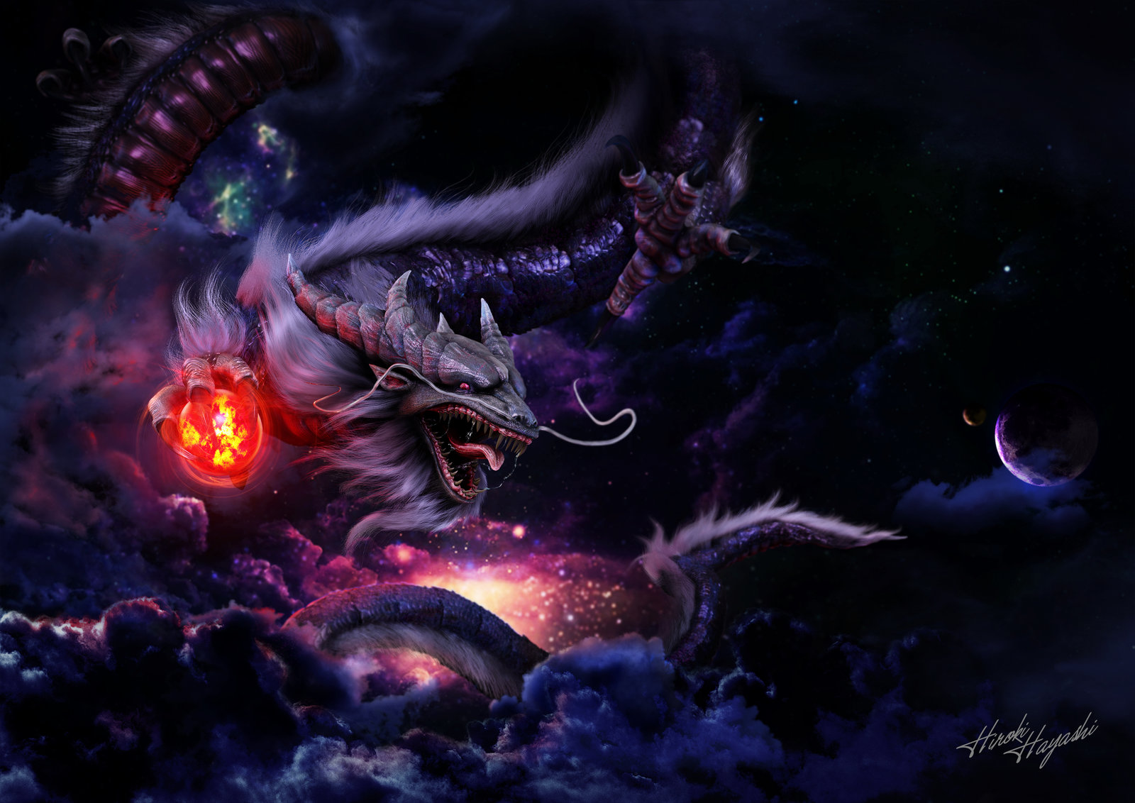 artstation red eyes b dragon hiroki hayashi