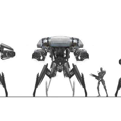 Victor martinez hunterkiller spidertank silhouettes 01 v03b 111913 vm