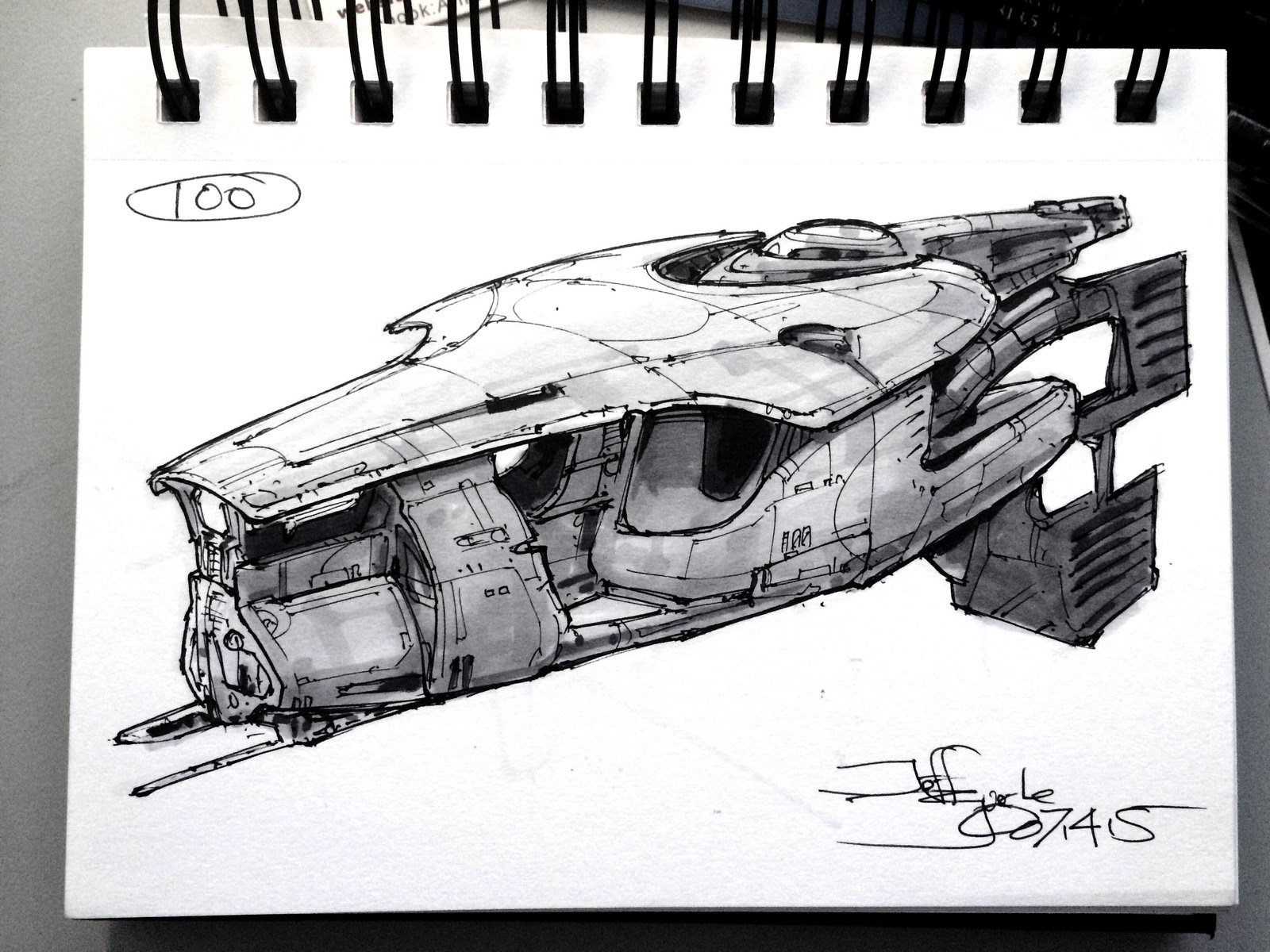 SpaceshipADay 100