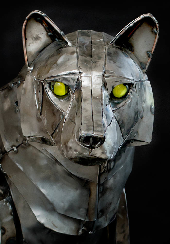 Artstation Mechanical Articulated Wolf Sculpture Andrew