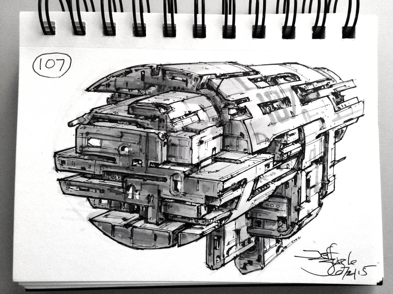 SpaceshipADay 107