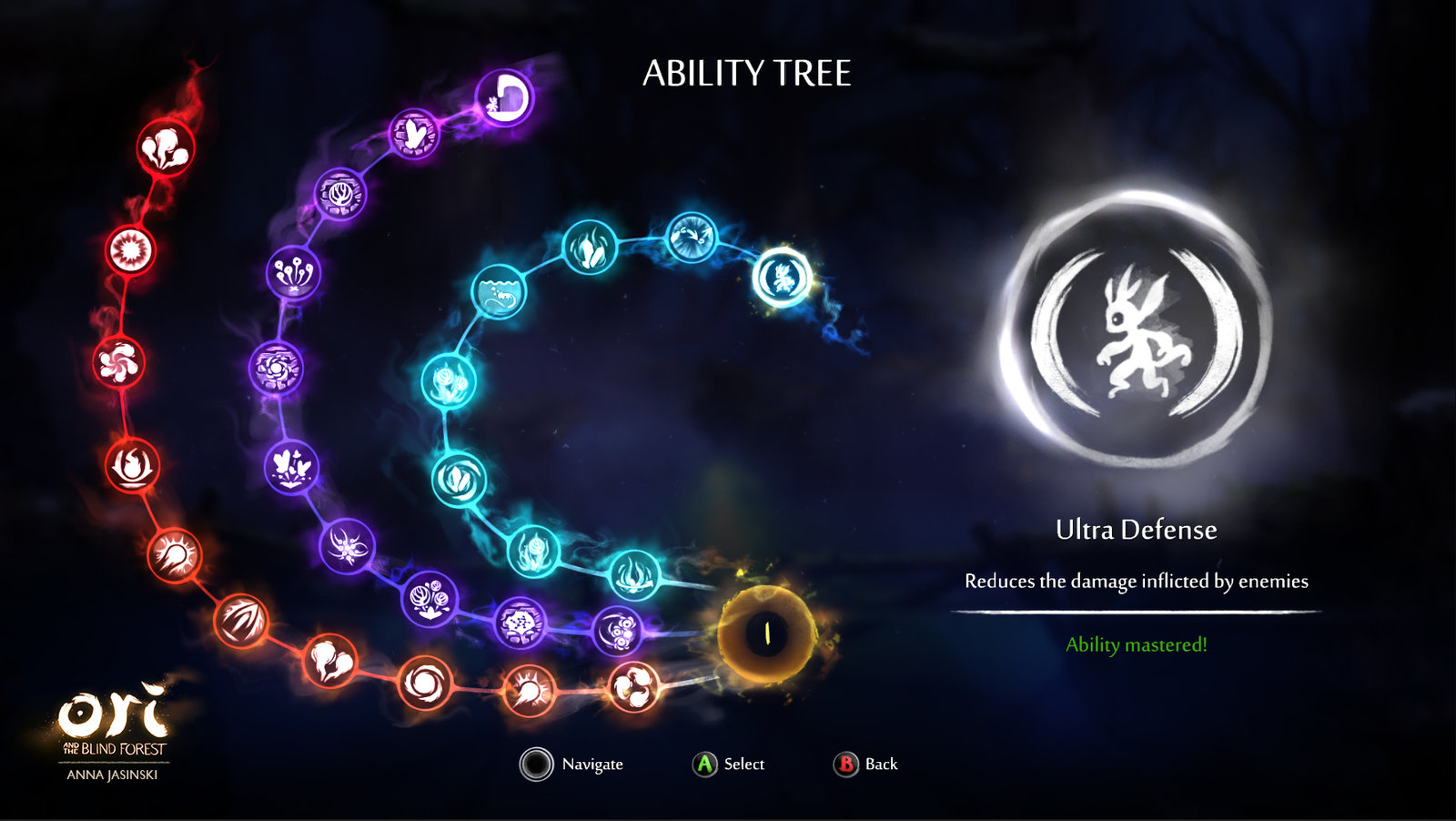 Ori and the Blind Forest UI