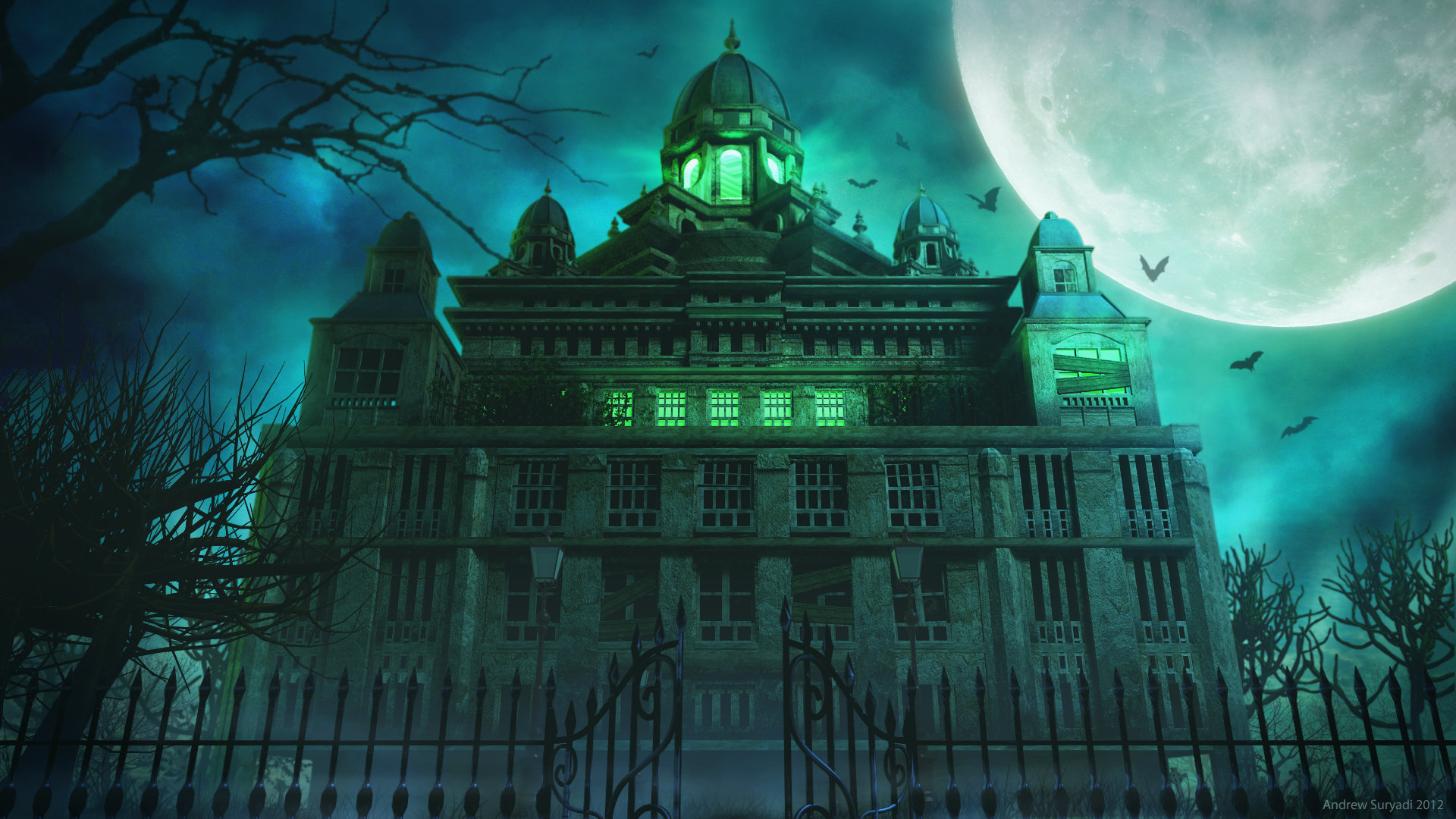 Large Mansions Artstation Spooky Mansion Andrew Suryadi