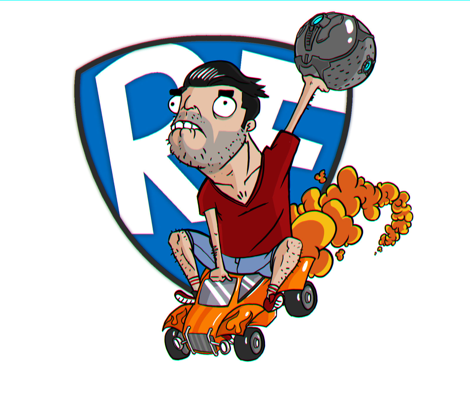 Rocket League Fan Art Self Portrait.