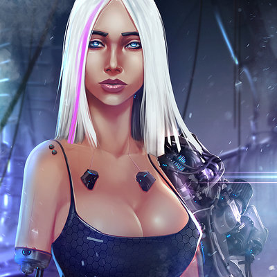 William nunez sci fi mecha girl