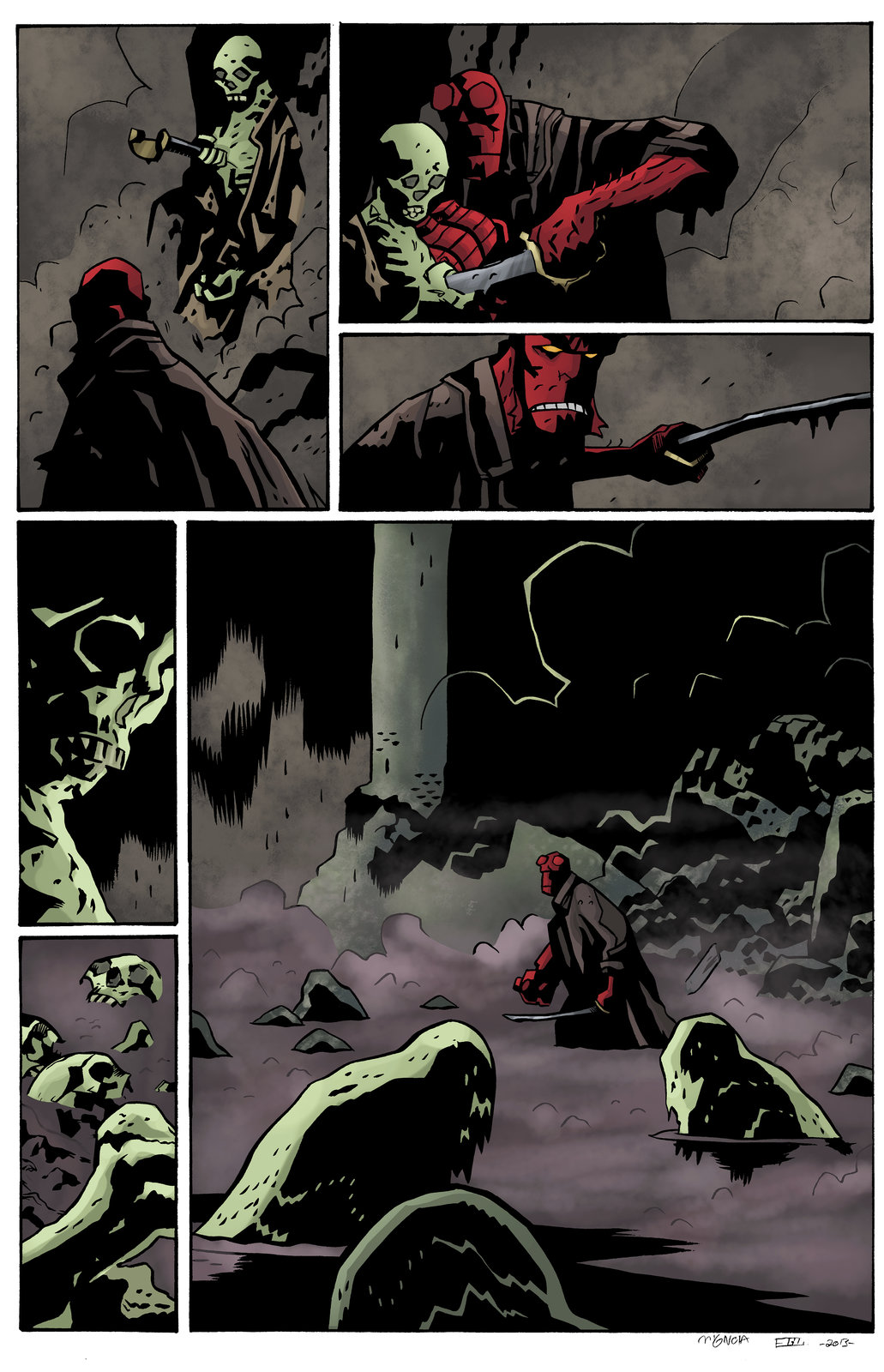 hellboy the island page 15 (Sample Colours)