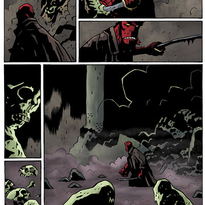 Matt james hellboy the island page 15 flats by squidimari d7e3ssk