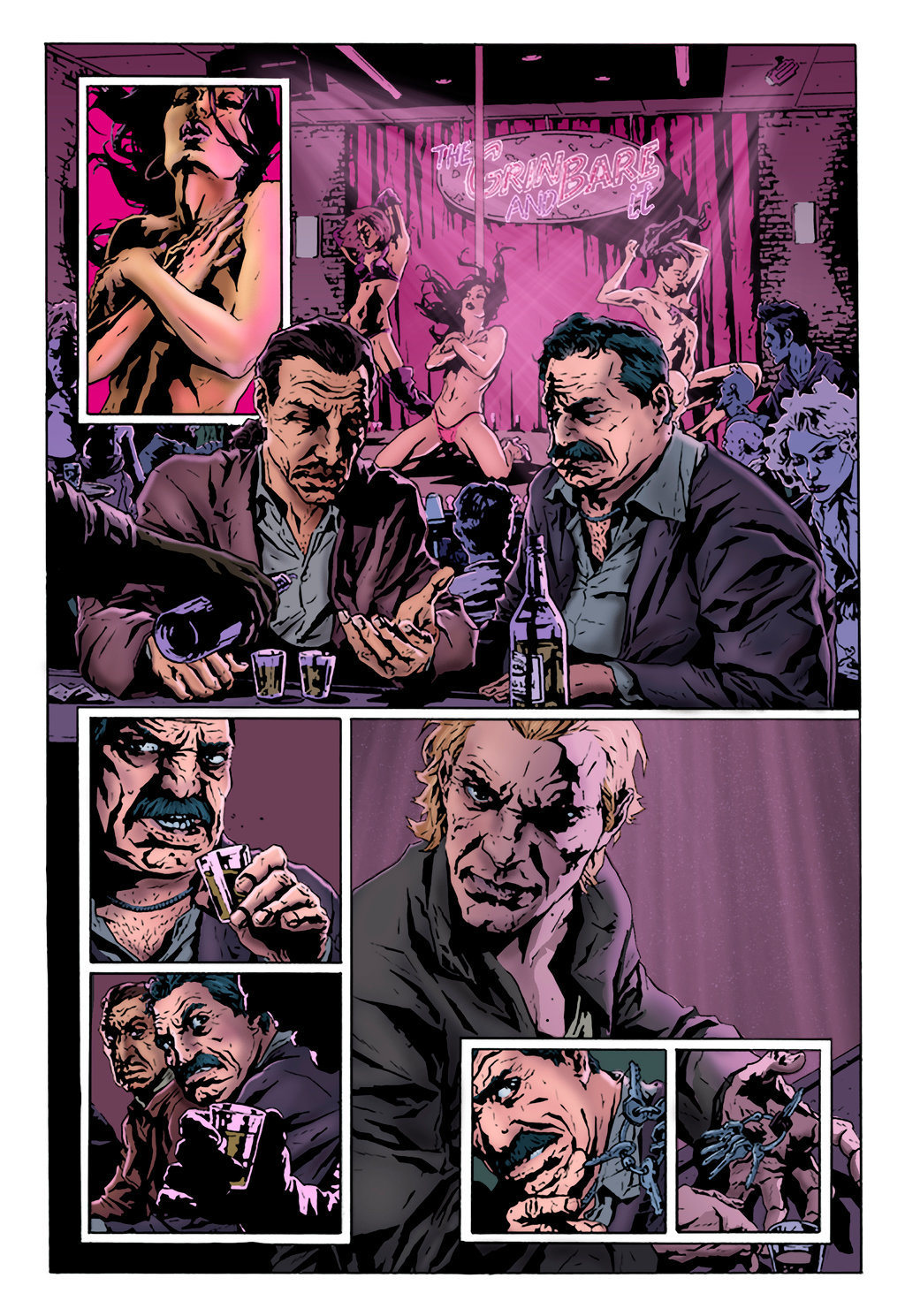 The Joker Graphic Novel (Sample Page - Colours)