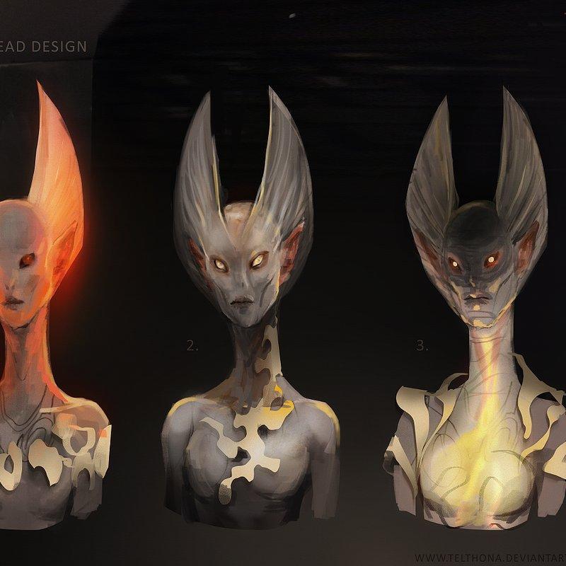 Alien Head Design