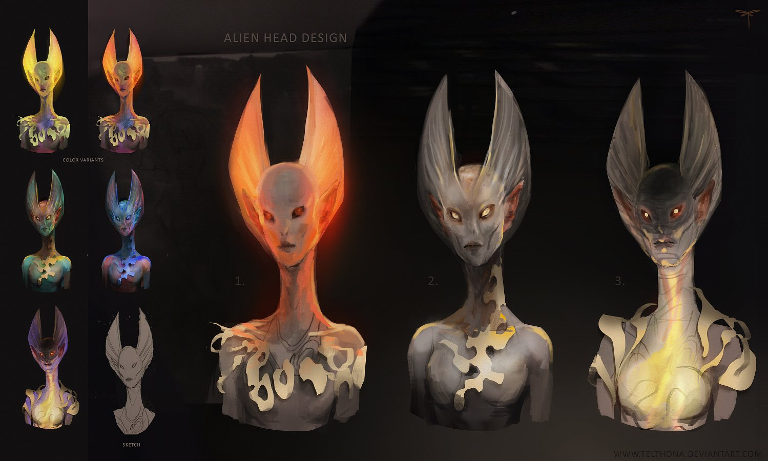 Alien Head Design