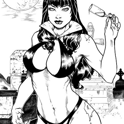 Matt james vampirella by mattjamescomicarts d8o11fk