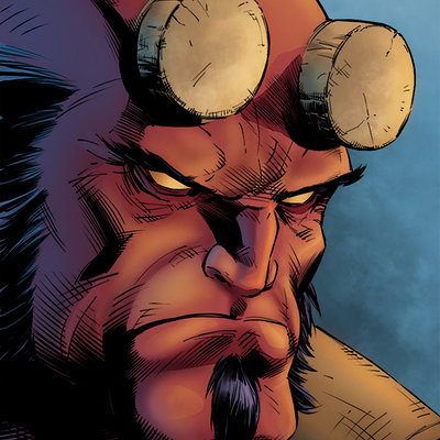 Matt james hellboy by mattjamescomicarts d8nk120