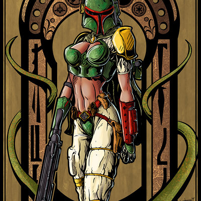 Matt james lady fett by mattjamescomicarts d8k6qfw