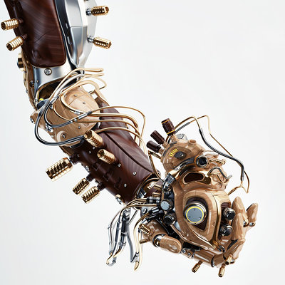 Vladislav ociacia robotic hand hold heart thumb