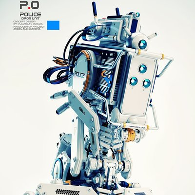 Vladislav ociacia futuristic robot police man 3
