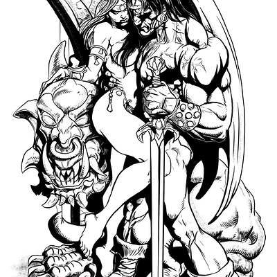 Matt james barbarian by medina by mattjamescomicarts d8c7p4a