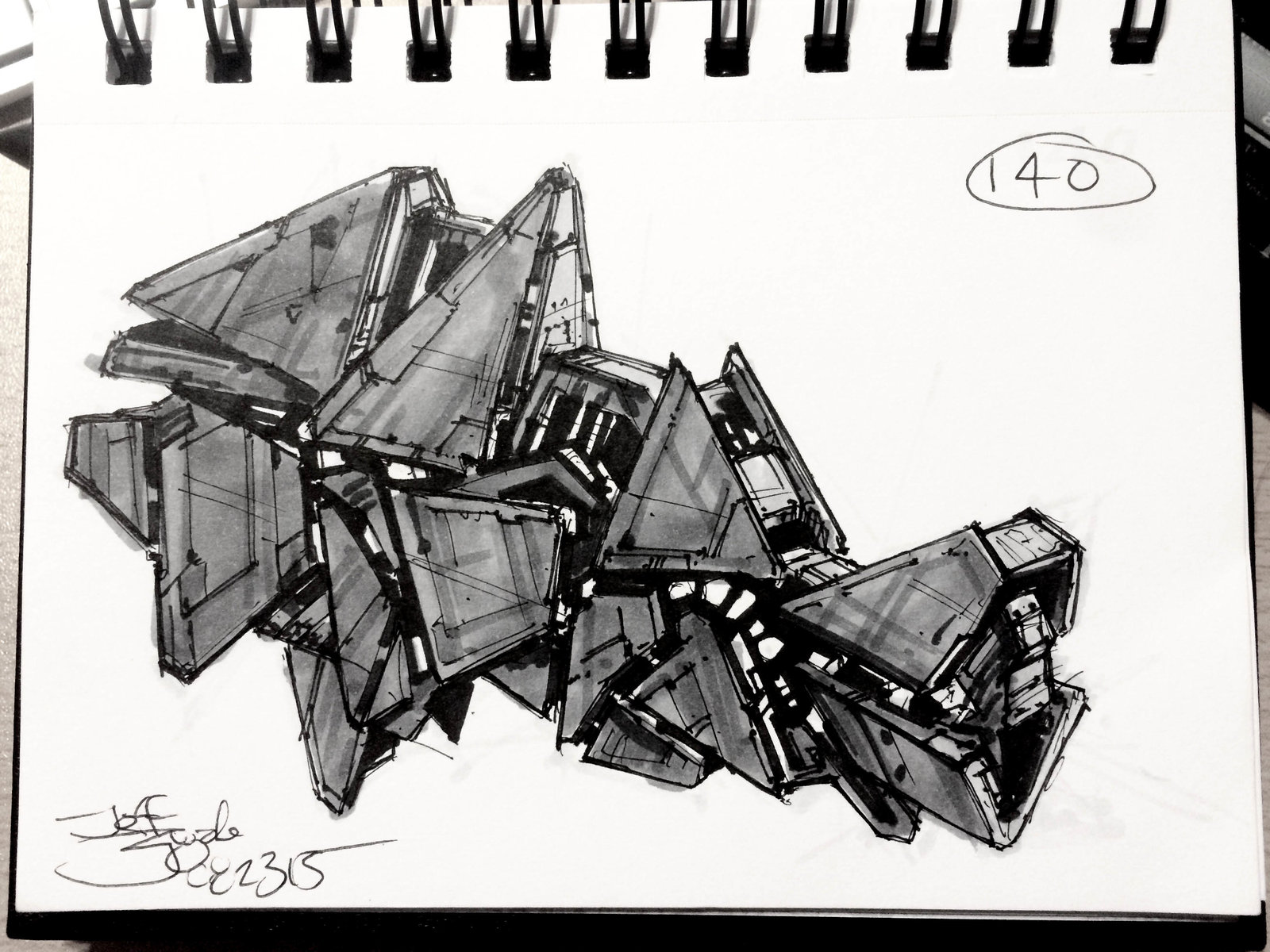 SpaceshipADay 140