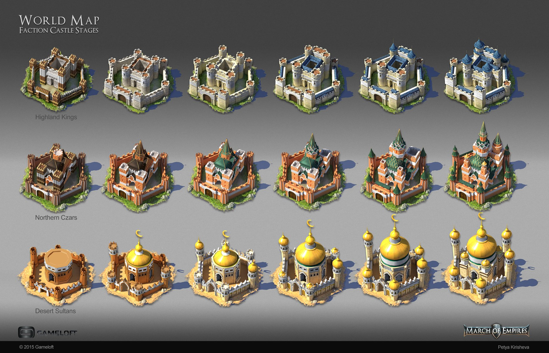 Artstation world map concepts and buildings petya kirisheva finished illustrations of the faction castles for the world map view of a mobile strategy game gumiabroncs Choice Image