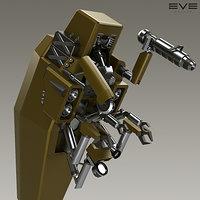 artstation turret and launcher models for eve online kasper hansen