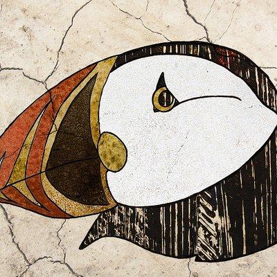 Fabyan pasteleurs papegaaiduiker texturen tag
