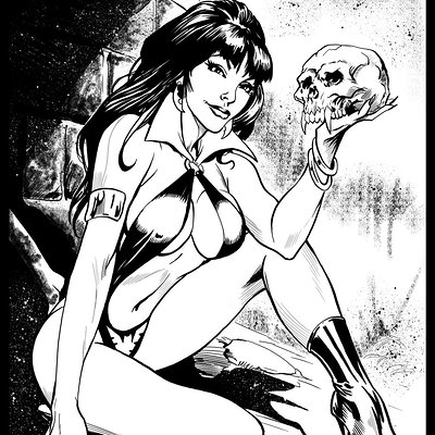 Matt james vampirella by alan davis sample inks by mattjamescomicarts d810qj6
