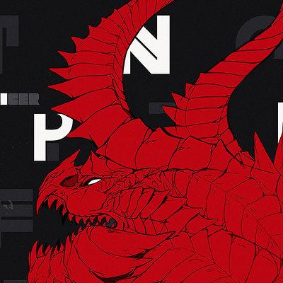 Liger inuzuka dragon typography wtrmrk upload 1000px