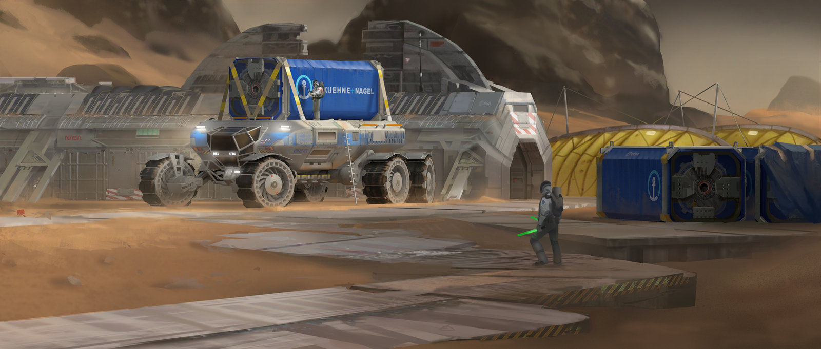 Heavy Mars Vehicle - Containers