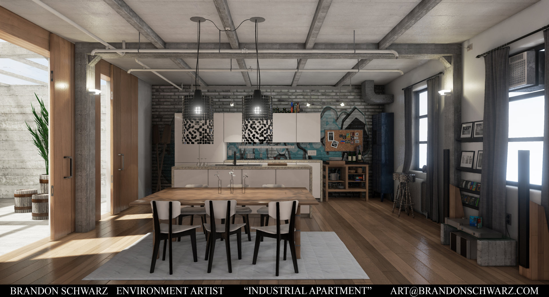ArtStation Modern Industrial Apartment Game Environment