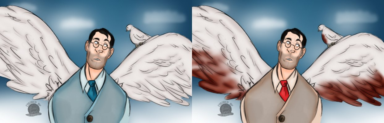 ArtStation - Angel Medic and Archimedes, Cat Luniscia