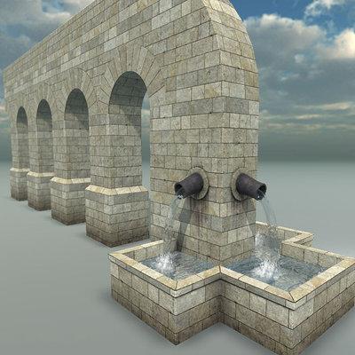 Roman Aqueduct & Water Shader