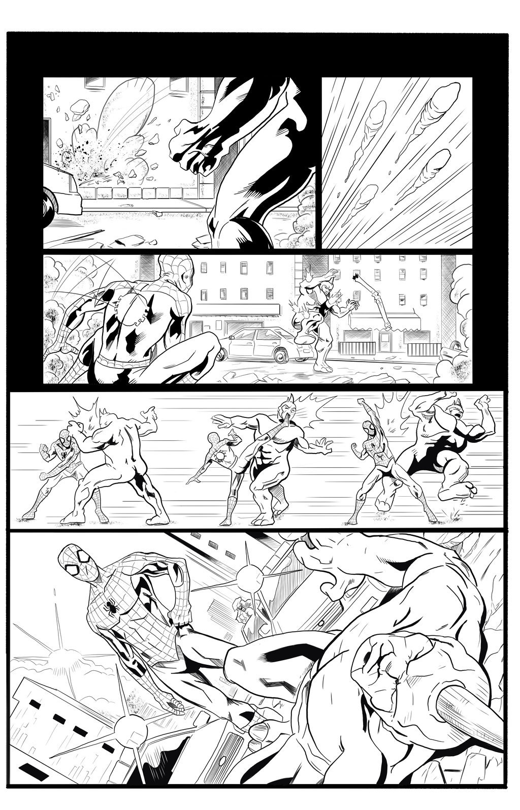 Spider Man Sample Pages