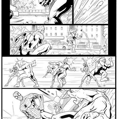 Matt james spider man sample page 6 by mattjamescomicarts d7fghuf