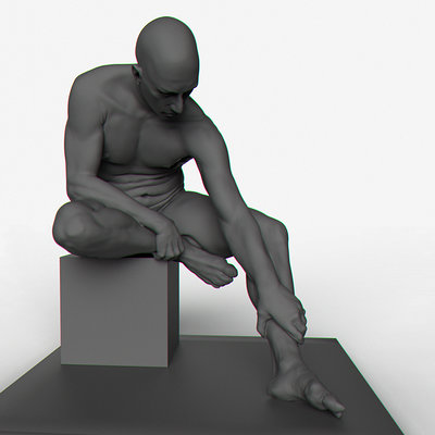 Fabien yorgandjian seated man 01