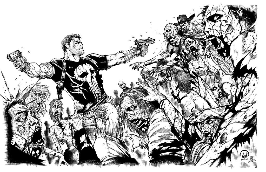 Punisher vs The Walking Dead