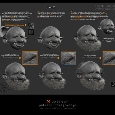 little tuto for hair in zbrush 2014- number2
