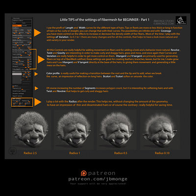 little tuto for hair in zbrush 2014