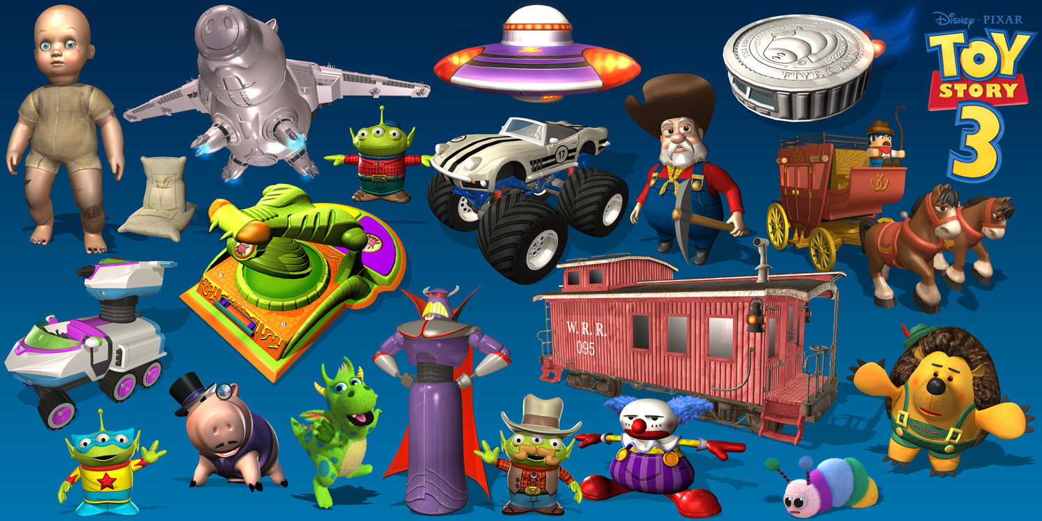 B Allen Toy Story 3 Characters By Ballen